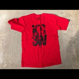Nice men's red kr3w swag tshirt hypebeast